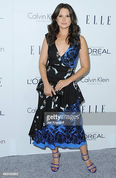 Actress Katie Lowes arrives at the 22nd Annual ELLE Women In Hollywood Awards at Four Seasons Hotel Los Angeles at Beverly Hills on October 19 2015...