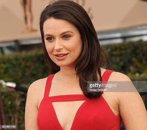 Actress Katie Lowes arrives at the 22nd Annual Screen Actors Guild Awards at The Shrine Auditorium on January 30 2016 in Los Angeles California