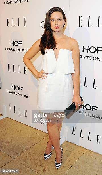 Actress Katie Lowes arrives at the ELLE Women In Television Celebration at Sunset Tower on January 22 2014 in West Hollywood California