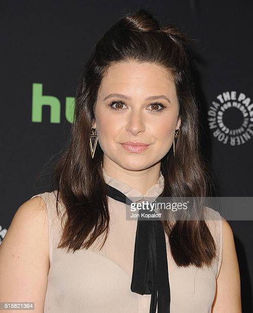 Actress Katie Lowes arrives at The Paley Center For Media's 33rd Annual PaleyFest Los Angeles Scandal at Dolby Theatre on March 15 2016 in Hollywood...