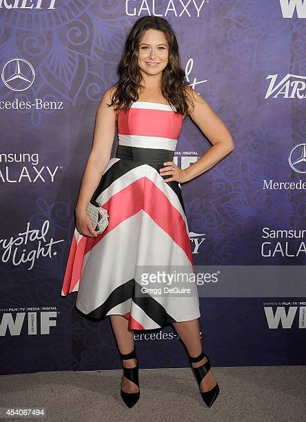 Actress Katie Lowes arrives at the Variety And Women In Film Annual PreEmmy Celebration at Gracias Madre on August 23 2014 in West Hollywood...