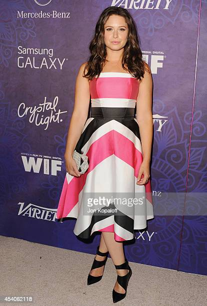 Actress Katie Lowes arrives at Variety And Women In Film Annual PreEmmy Celebration at Gracias Madre on August 23 2014 in West Hollywood California
