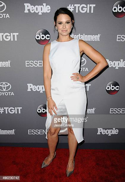 Actress Katie Lowes attends ABC's TGIT premiere event on September 26 2015 in West Hollywood California