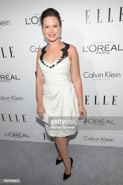 Actress Katie Lowes attends ELLE's 20th Annual Women In Hollywood Celebration at Four Seasons Hotel Los Angeles at Beverly Hills on October 21 2013...