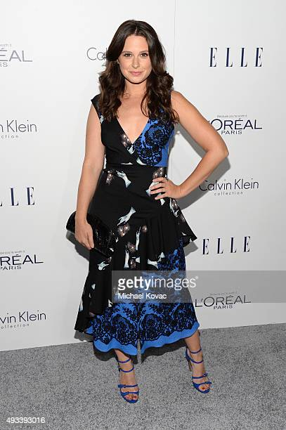 Actress Katie Lowes attends the 22nd Annual ELLE Women in Hollywood Awards at Four Seasons Hotel Los Angeles at Beverly Hills on October 19 2015 in...