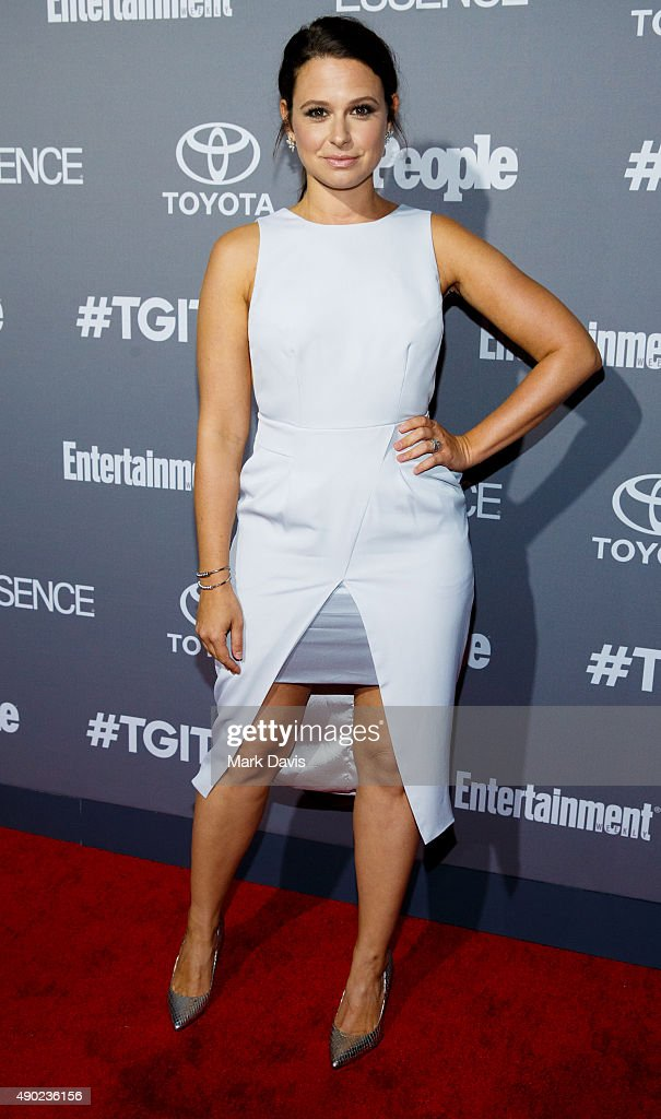 Actress Katie Lowes attends the celebration of ABC's TGIT Line-up held at Gracias Madre on September 26, 2015 in West Hollywood, California.