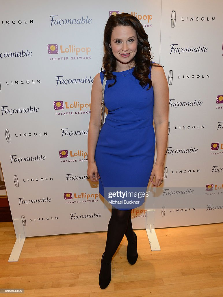 Actress Katie Lowes attends the Faconnable Kicks Off The Holidays Shopping Event Benefitting Lollipop Theater Network at Faconnable on November 13, 2012 in Beverly Hills, California.