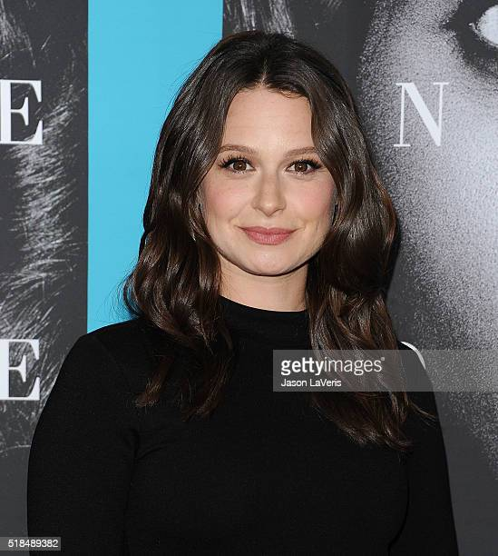 Actress Katie Lowes attends the premiere of Confirmation at Paramount Theater on the Paramount Studios lot on March 31 2016 in Hollywood California