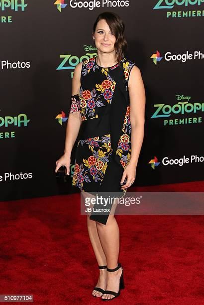 Actress Katie Lowes attends the premiere of Walt Disney Animation Studios' 'Zootopia' held at the El Capitan Theatre on February 17 2016 in Hollywood...