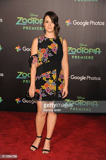 Actress Katie Lowes attends the premiere of Walt Disney Animation Studios' 'Zootopia' at the El Capitan Theatre on February 17 2016 in Hollywood...