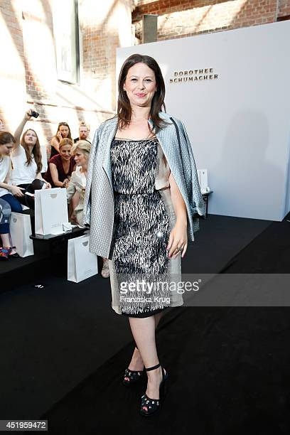 Actress Katie Lowes attends the Schumacher show during the MercedesBenz Fashion Week Spring/Summer 2015 at Sankt Elisabeth Kirche on July 10 2014 in...