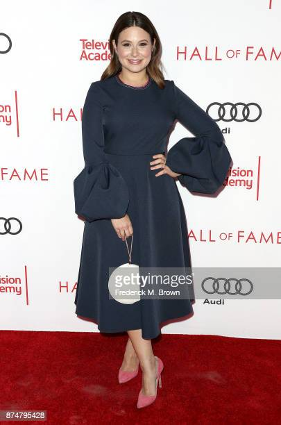 Actress Katie Lowes attends the Television Academy's 24th Hall of Fame Ceremony at the Saban Media Center on November 15 2017 in North Hollywood...