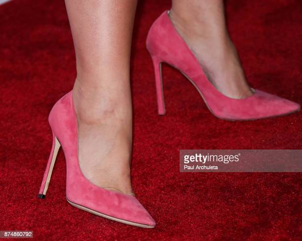 Actress Katie Lowes Shoe Detail attends the Television Academy's 24th Hall Of Fame ceremony at The Saban Media Center on November 15 2017 in North...