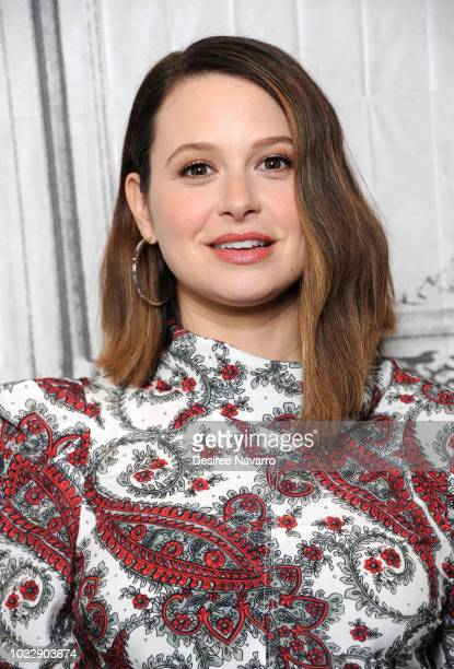 Actress Katie Lowes visits Build Series to discuss Broadway musical 'Waitress' at Build Studio on September 13 2018 in New York City