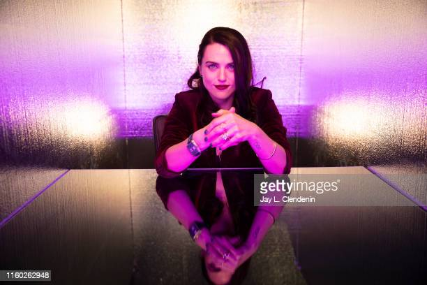 Actress Katie McGrath of 'Supergirl' is photographed for Los Angeles Times at ComicCon International on July 20 2019 in San Diego California...