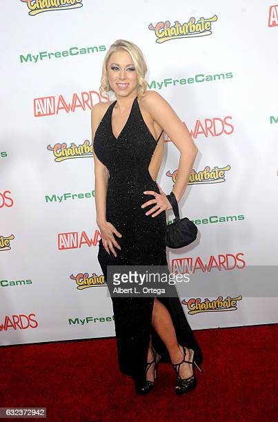 Actress Katie Morgan arrives at the 2017 Adult Video News Awards held at the Hard Rock Hotel Casino on January 21 2017 in Las Vegas Nevada