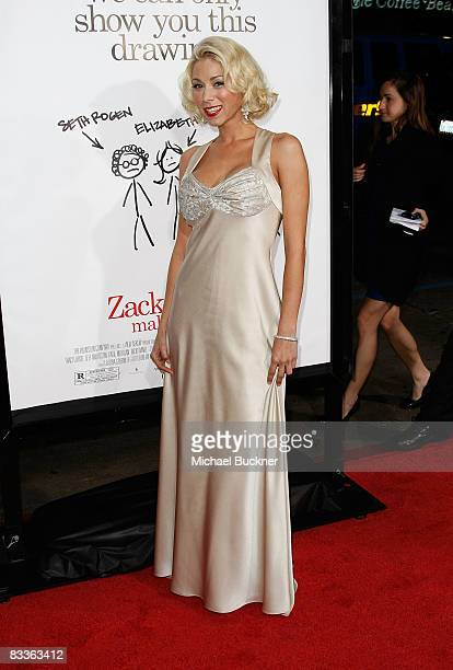Actress Katie Morgan arrives at the premiere of Weinstein Company's Zack and Mira Make A Porno at Grauman's Chinese Theater on October 20 2008 in Los...