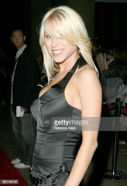 Actress Katie Morgan arrives to the premiere of Zack and Miri Make a Porno held at Ryerson Theatre during the 2008 Toronto International Film...
