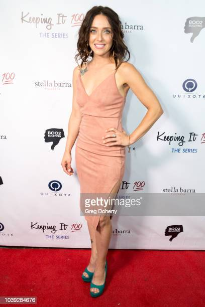 Actress Katie Oliver attends the Keeping It 100 The Series Premiere And Knock Out Abuse West on September 23 2018 at Bar Lubitsch in West Hollywood...