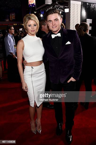 Actress Katie Peterson and recording artist Jesse McCartney attend The 41st Annual People's Choice Awards at Nokia Theatre LA Live on January 7, 2015...
