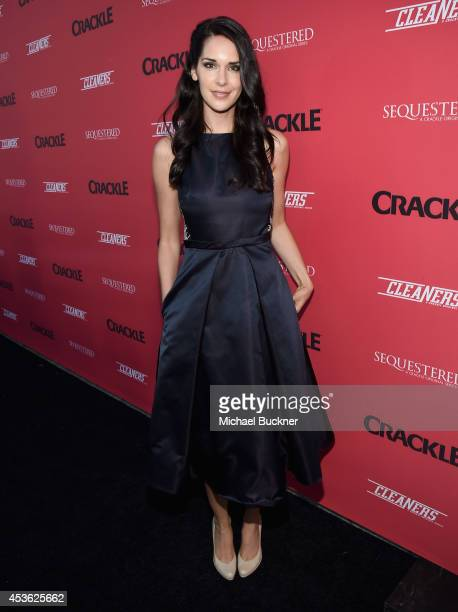 Actress Katie Savoy attends Crackle Presents Summer Premieres Event for originals Sequestered and Cleaners at 1 OAK on August 14 2014 in West...