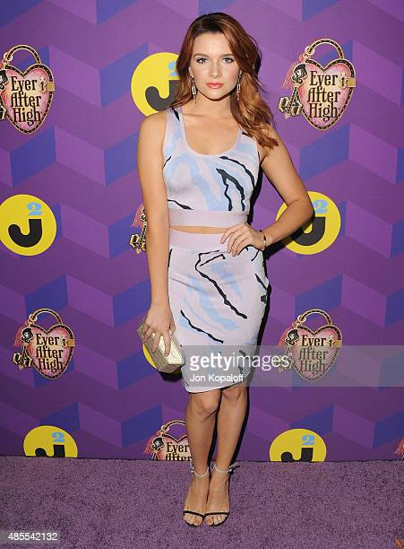 Actress Katie Stevens arrives at Just Jared's Way To Wonderland Presented By Ever After High at Greystone Manor Supperclub on August 27 2015 in West...