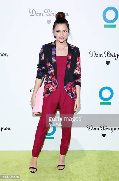Actress Katie Stevens arrives at the 20th Annual Los Angeles Gala Dinner hosted by Conservation International on March 10 2016 in Culver City...