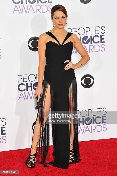 Actress Katie Stevens arrives at the People's Choice Awards 2016 at Microsoft Theater on January 6 2016 in Los Angeles California