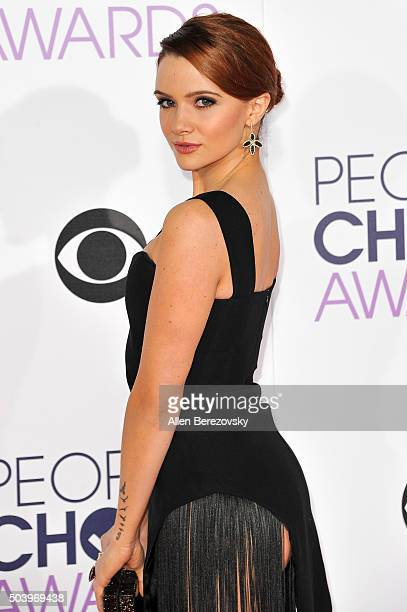 Actress Katie Stevens arrives at the People's Choice Awards 2016 at Microsoft Theater on January 6, 2016 in Los Angeles, California.