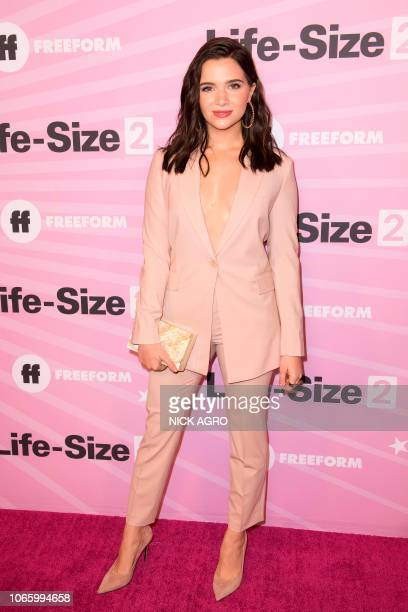 Actress Katie Stevens arrives for the world premiere of 'LifeSize 2' on November 27 2018 at The Hollywood Roosevelt hotel in Hollywood California