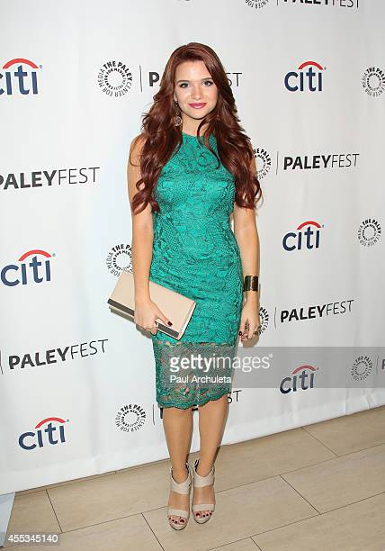 Actress Katie Stevens attends the 2014 PaleyFest Fall TV preview for MTV's Faking It at The Paley Center for Media on September 12 2014 in Beverly...