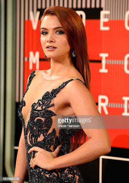 Actress Katie Stevens attends the 2015 MTV Video Music Awards at Microsoft Theater on August 30 2015 in Los Angeles California