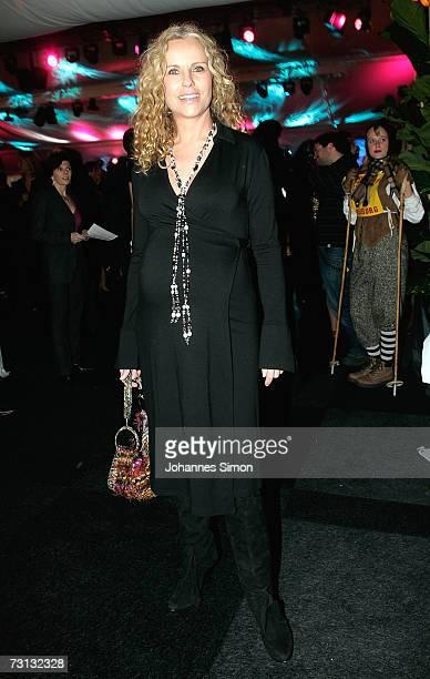 Actress Katja burkhard attends the Kitzrace Party January 27 in Kitzbuehel Austria