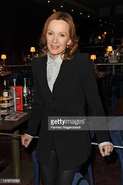 Actress Katja Flint attends the CNN Journalist Award 2012 at the GOP Variete Theater on March 27, 2012 in Munich, Germany.