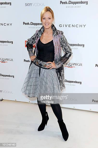 Actress Katja Flint attends the 'Sex And The City 2' movie night at the Peek Cloppenburg flagship store on May 28 2010 in Berlin Germany