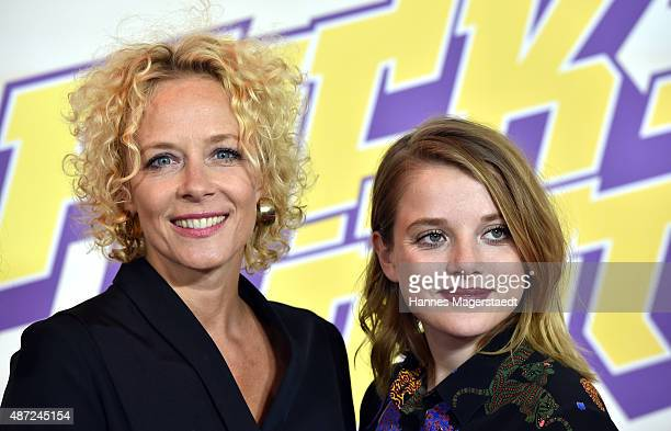 Actress Katja Riemann and Jella Haase attend the 'Fack ju Goehte 2' Munich Premiere at Mathaeser Filmpalast on September 7 2015 in Munich Germany