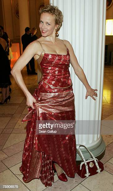 Actress Katja Riemann attends the Cinema for Peace Charity Gala on February 12 2007 in Berlin Germany The gala is traditionally held during the...