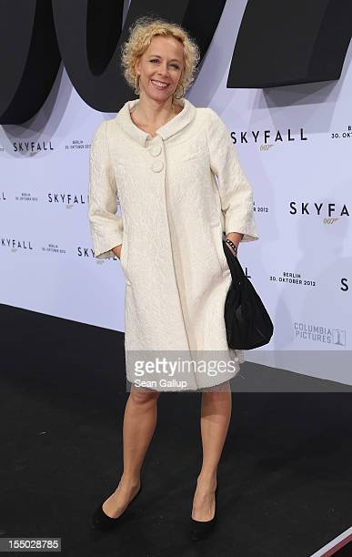 Actress Katja Riemann attends the Germany premiere of 'Skyfall' at the Theater am Potsdamer Platz on October 30 2012 in Berlin Germany