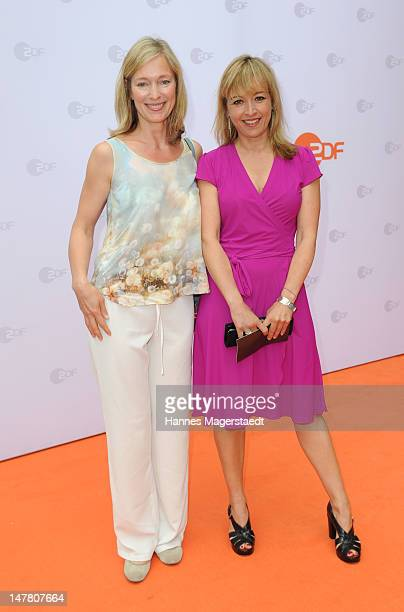 Actress Katja Weitzenboeck and Katharina Abt attend the ZDF reception during the Munich Film Festival 2012 at the H'ugo's on July 3 2012 in Munich...