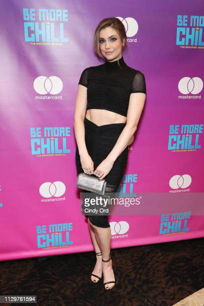 "Actress Katlyn Carlson attends the opening night after party for ""Be More Chill"" at Gotham Hall on March 10, 2019 in New York City."