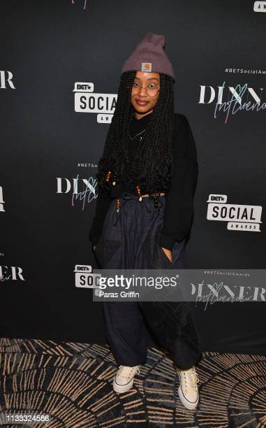 Actress Katlyn Nichol attends 2018 BET Social Awards Dinner at TWELVE Atlantic Station on March 02, 2019 in Atlanta, Georgia.