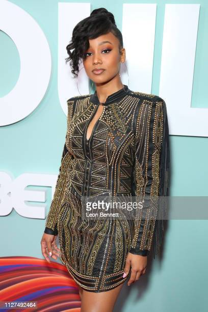 Actress Katlyn Nichol attends BET's American Soul Los Angeles Premiere on February 04 2019 in North Hollywood California