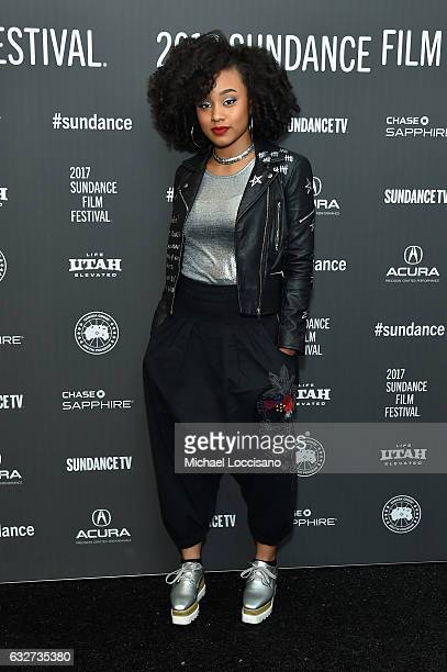 Actress Katlyn Nichol attends the Shots Fired Premiere on day 7 of the 2017 Sundance Film Festival at The Marc Theatre on January 25 2017 in Park...