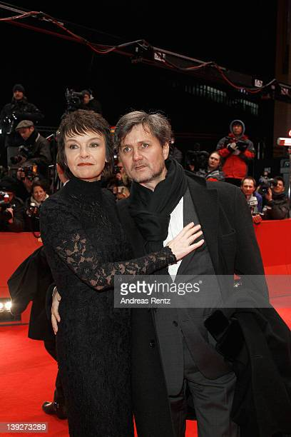Actress Katrin Sass and partner Volker Ranisch attend the Closing Ceremony during day ten of the 62nd Berlin International Film Festival at the...