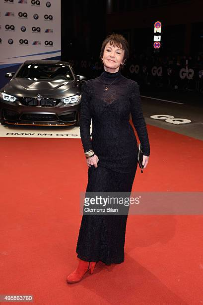 Actress Katrin Sass arrives at the GQ Men of the year Award 2015 at Komische Oper on November 5 2015 in Berlin Germany