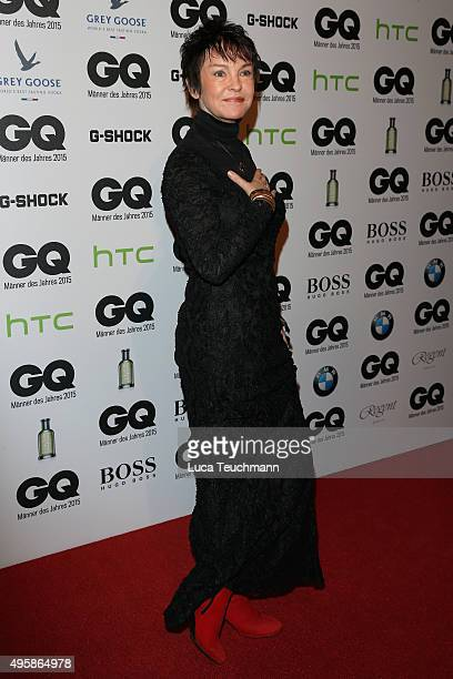 Actress Katrin Sass arrives at the GQ Men of the year Award 2015 at Komische Oper on November 5, 2015 in Berlin, Germany.
