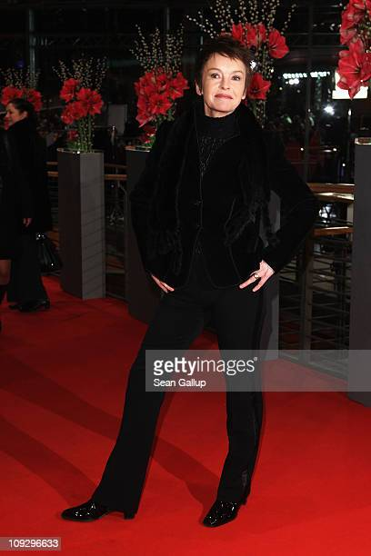 Actress Katrin Sass attends the Award Ceremony during day ten of the 61st Berlin International Film Festival at the Berlinale Palace on February 19,...