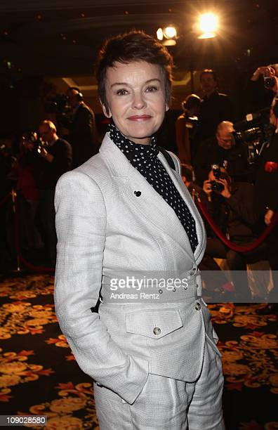 Actress Katrin Sass attends the Medienboard Reception during day three of the 61st Berlin International Film Festival at Ritz Carlton on February 12,...