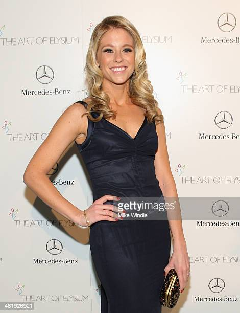 Actress Katrina Begin attends The Art of Elysium's 7th Annual HEAVEN Gala presented by MercedesBenz at Skirball Cultural Center on January 11 2014 in...