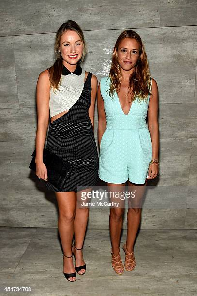 Actress Katrina Bowden and Charlotte Ronson attend the Charlotte Ronson Presentation during MercedesBenz Fashion Week Spring 2015 at The Pavilion at...